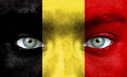 Visage comme drapeau belgique