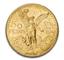 Un peu exotique: 50 Pesos Mexique 37,48 g d'or