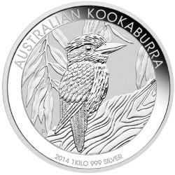 Pièce d'argent Kookaburra 2014 de 1 kg de la Perth Mint/Australie