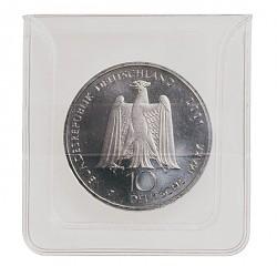Pochette pour pièces transparente de Lindner