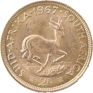 2 Rands sud-africains 7,32g d'or fin