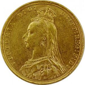 1 Livre anglaise Souverain Victoria Jubilé 7,32g d'or fin