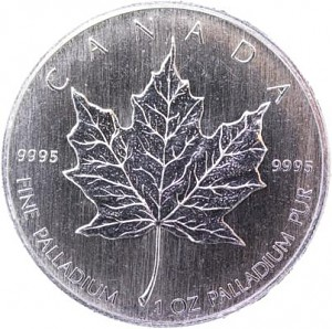 Canadian Maple Leaf 1oz de palladium (TVA normale)