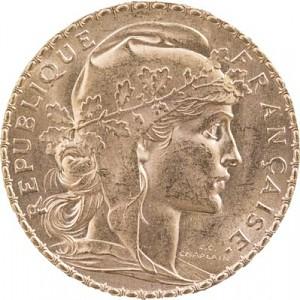 20 Francs français Marianne 5,81g d'or fin