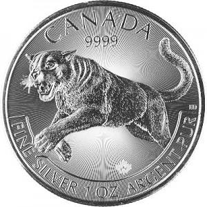 Canadien Predator - Puma 1oz d'argent fin  - 2016