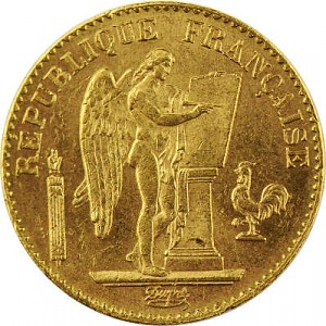 20 Francs français Génie - Troisième République 5,81g d'or fin