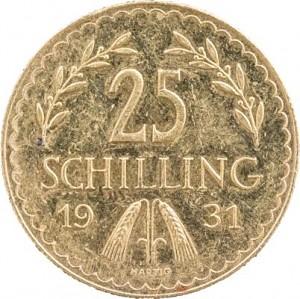 25 Schilling autrichiennes 5,29g d'or fin