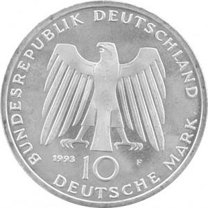 10 DM Pièces Commémoratives RDA 9,69g d'argent (1970 - 1997)