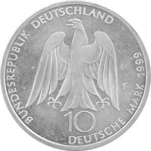 10 DM Pièces Commémoratives RDA 14,34g d'argent (1998 - 2001)