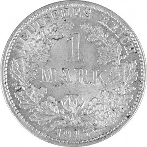 1 Mark Empire allemand 5g d'argent (1873 - 1915)