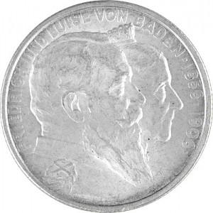 2 Mark Empire allemand 10g d'argent (1874 - 1914)