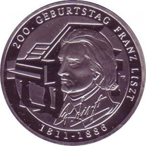 10 Euros Pièce Commémorative Allemagne 105g d'argent 2011