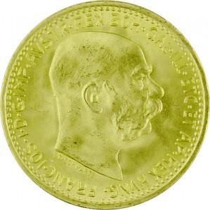 10 Couronnes autrichienne 3,04g d'or fin