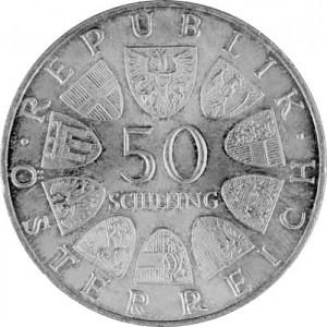50 Schilling autrichiennes 18g d´argent (1959 - 1973)