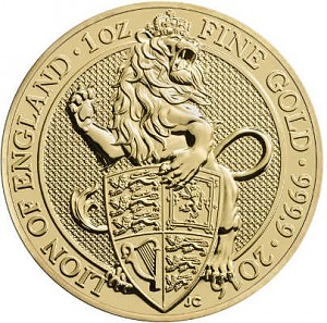 Queens Beasts Lion 1oz d'or fin - 2016