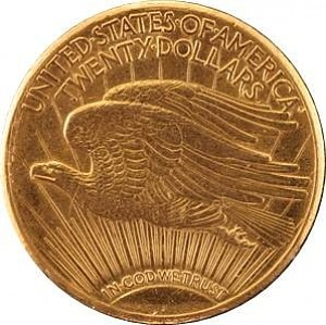 20 Dollar américaín Double Eagle Saint-Gaudens 30,48g d'or fin - deuxième choix