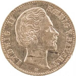 10 Mark allemand Ludwig II Roi de la Bavière 3,58g d'or fin