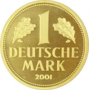 1 Mark allemand 12g d'or fin
