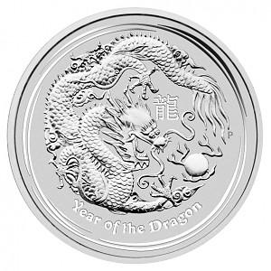 Lunar II Dragon 1kg d'argent fin - 2012
