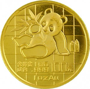 Chine Panda 1oz d'or fin - 1989