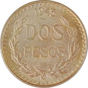 2 Pesos mexicain 1,5g d'or fin