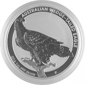 Aigle Australien (Australian Wedge Tailed Eagle) 1oz d'argent fin - 2016