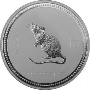 Lunar I Souris 1kg d'argent fin -  2008
