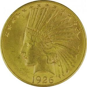 10 Dollar Eagle américain Indian Head 15,05g d'or fin