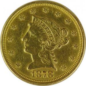 2,5 Dollar américian Liberty 3,76 d'or fin