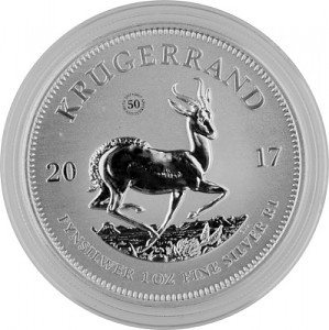 Krugerrand 1oz d'argent fin - 2017