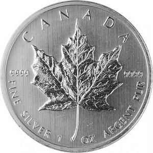 Maple Leaf 1oz d'Argent - Deuxième Choix