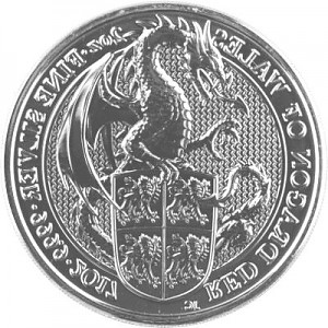 Queens Beasts Red Dragon 2oz d'argent fin - 2017