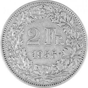 2 Francs suisses 8,35g d'argent (1874 - 1967)