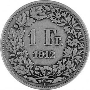 1 Francs suisses 4,175g d'argent (1875 - 1967)