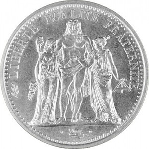 10 Franc Français 'Hercule' 22,5g d'argent (1964 - 1973)