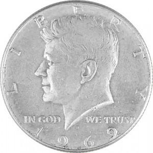 ½ US-Dollar Kennedy 4,6g d´argent (1965 - 1970)