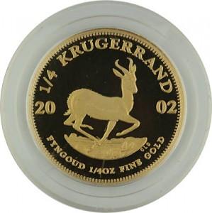 Krugerrand 1/4oz d'or fin Proof - 2002