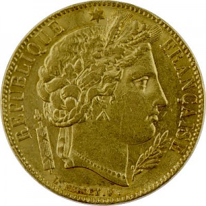 20 Francs français Ceres 5,81g d'or fin