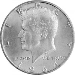 ½ US-Dollar Kennedy 11,25g d´argent - 1964