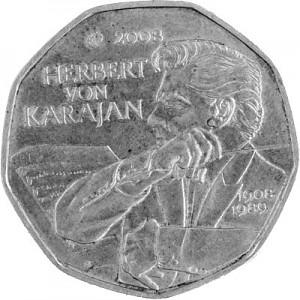 5 Euros Pièce Commémorative Autriche 8,0g d'argent (2002 - 2011)