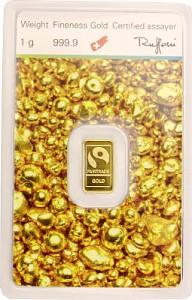 Lingot 1g d'or fin - 'Fairtrade Gold'