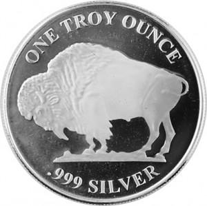 Buffalo Américain Ronde 1oz d'argent fin