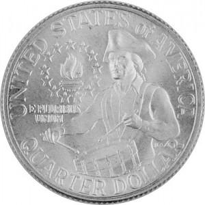 ¼ US-Dollars drummers Washington 2,3g d´argent - 1976