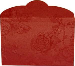 Enveloppe cadeau 'Rouge' pour barres - motif roses