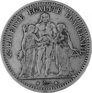 5 Franc Français 22,5g d'argent (1848 - 1879)