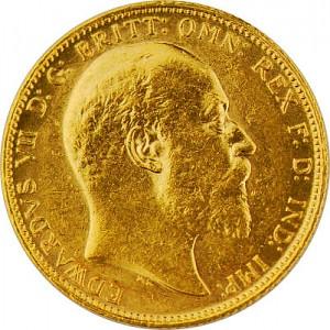 1 Livre anglaise Souverain Edward VII 7,32g d'or fin