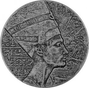République du Tchad Reine Nefertiti 5oz d'argent fin - 2017