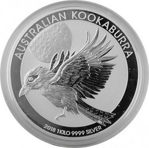 Kookaburra 1kg d'argent fin - 2018