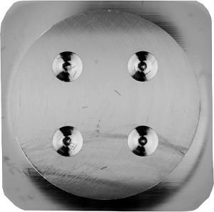 Cube en argent - Fabrication CNC - 25 g Argent sterling 925