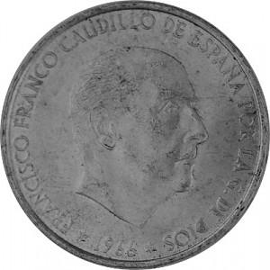 100 PTS Espagne 15,2 g d'argent - 1966